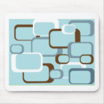 light blue retro squares mouse pad