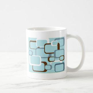 light blue retro squares mug