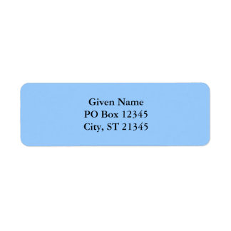 Light Blue Return Address Label