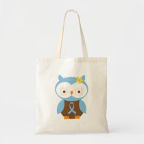 Light Blue Ribbon Awareness Tote Bag