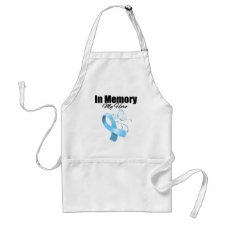 Light Blue Ribbon In Memory of My Hero Adult Apron
