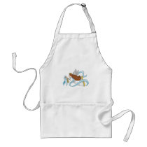"""Light Blue Ribbon"" of Awareness Adult Apron"