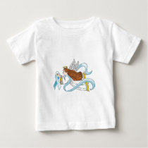 """Light Blue Ribbon"" of Awareness Baby T-Shirt"