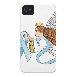 """Light Blue Ribbon"" of Awareness iPhone 4 Case"