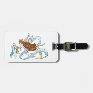 """Light Blue Ribbon"" of Awareness Travel Bag Tag"
