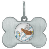 """Light Blue Ribbon"" of Awareness Pet ID Tag"