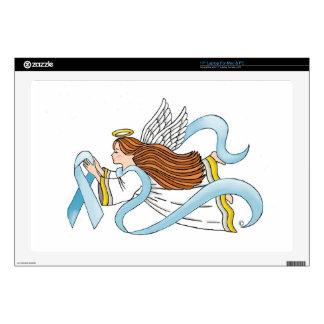 """""""Light Blue Ribbon"""" of Awareness Skin For Laptop"""