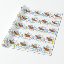 """Light Blue Ribbon"" of Awareness Wrapping Paper"