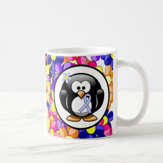 Light Blue Ribbon Penguin Coffee Mug