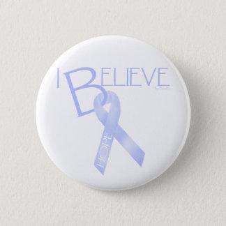 Light Blue Ribbon Pinback Button