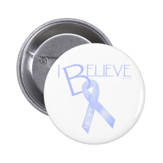 Light Blue Ribbon Pinback Buttons