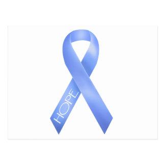 Light Blue Ribbon Post Cards