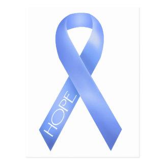 Light Blue Ribbon Postcard
