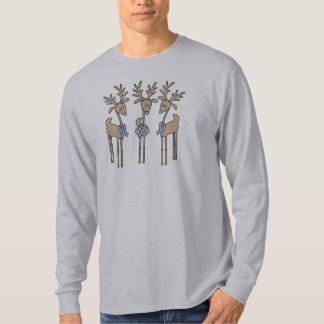 Light Blue Ribbon Reindeer T-Shirt