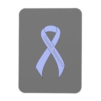 Light Blue Ribbon Support Awareness Rectangular Photo Magnet