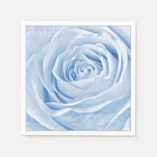 Light Blue Rose Abstract Floral Photography Napkin