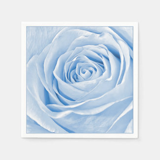 Light Blue Rose Abstract Floral Photography Paper Napkin
