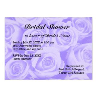 Light Blue Rose Background Bridal Shower Invite