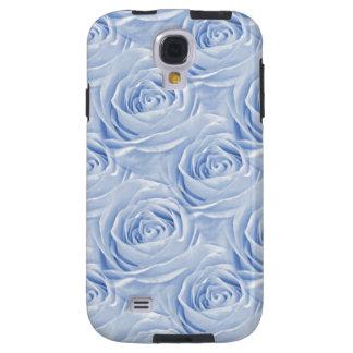 Light Blue Rose Center Floral Photo Pattern Galaxy S4 Case