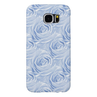 Light Blue Rose Center Floral Photo Pattern Samsung Galaxy S6 Cases