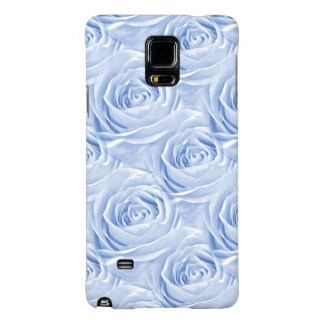 Light Blue Rose Center Floral Photo Pattern Galaxy Note 4 Case