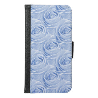 Light Blue Rose Center Floral Photo Pattern