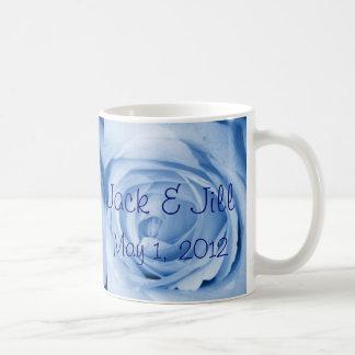 Light Blue Rose Save the Date Coffee Mug