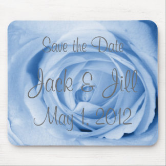 Light Blue Rose Save the Date Mouse Pad