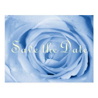 Light Blue Rose Save the Date Postcard