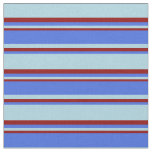 [ Thumbnail: Light Blue, Royal Blue, and Dark Red Colored Fabric ]