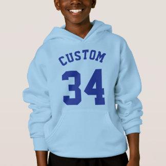 Light Blue & Royal Kids | Sports Jersey Design Hoodie