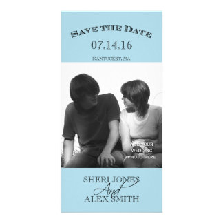 Light Blue Save the Date Photo Cards