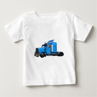 Light Blue Semi Truck in Three Quarter View Baby T-Shirt