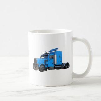 Light Blue Semi Truck in Three Quarter View Coffee Mug