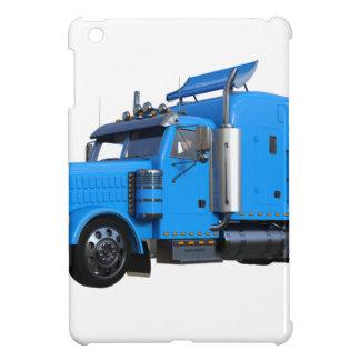 Light Blue Semi Truck in Three Quarter View iPad Mini Cover