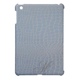 Light Blue Snake with Monogram Initial iPad Mini Case