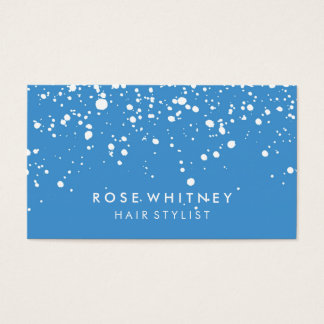 Light Blue Snow Creative Business Card