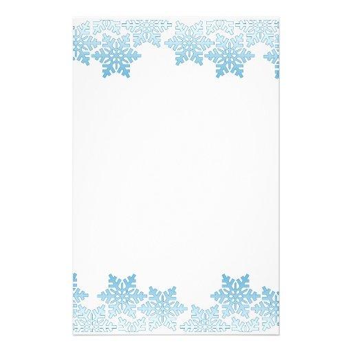 ... 512 jpeg 30kB, Light Blue Snowflake Border Stationery Design | Zazzle
