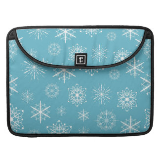Light Blue Snowflake Christmas Design Sleeve For MacBook Pro