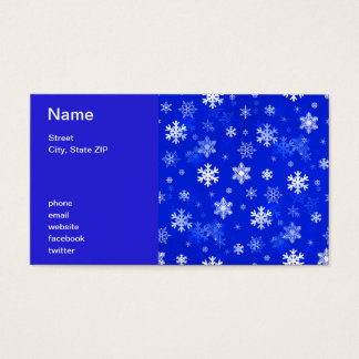 Light Blue Snowflakes Business Card