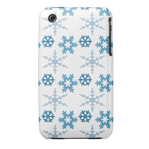 Light Blue Snowflakes Case iPhone 3 Cover