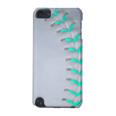 Light Blue Softball / Baseball Ipod Touch (5th Generation) Case at Zazzle