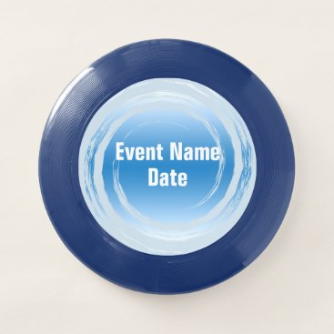 Beach Themed Light Blue Spinning Swirling Event Template Wham-O Frisbee