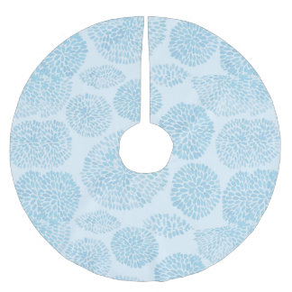 Light Blue Spots Cute Pattern Brushed Polyester Tree Skirt