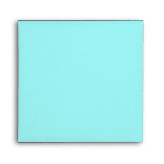 Light Blue Square Scrollwork Monogrammed Envelopes