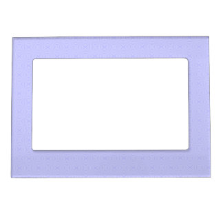 Light Blue Squiggly Squares Magnetic Picture Frame