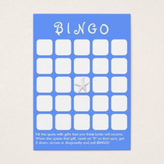 Light Blue Star Fish 5x5 Bridal Shower Bingo Card