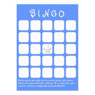 Light Blue Star Fish 5x5 Bridal Shower Bingo Card Large Business Card