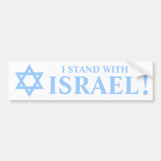 Light Blue Star of David Pro I Stand With Israel Bumper Sticker
