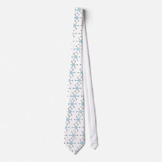 Light Blue Starburst Neck Tie